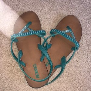 Bongo sandals - back strap & jewels